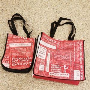 LULULEMON Set of 2 resuable shopping bags